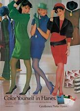 1984 HANES  HOSIERY : a dash of color   Nice legs    PRINT AD