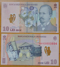 Romania Polymer Plastic Banknote 10 Lei 2008 UNC