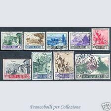 1950 San Marino Posta Aerea Serie Vedute n. 83/91 Usati