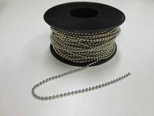 Ball chain silver nickel finish 2.4mm x 30 meter roll