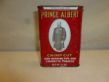 Vtg Old Antique Prince Albert Pipe Tobacco Canister Advertising Tin Decor