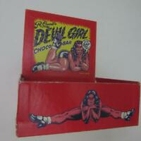 R Crumb Devil Girl Choco Bar Candy Display Box Point of Sale Advertising 1994