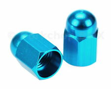 Aluminum alloy BMX bicycle acorn Schrader valve caps BRIGHT DIP BLUE ANODIZED