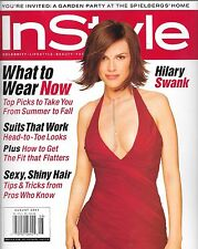 IN STYLE MAGAZINE AUGUST 2001 HILARY SWANK (FN/VF)