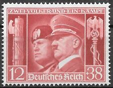 Nazi Germany 3rd Reich Mi# 763 MH Hitler & Mussolini 1941 *