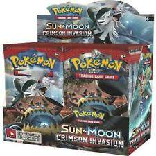 Pokemon Tcg Sun & Moon Crimson Invasion fábrica sellada caja 36 packs de refuerzo