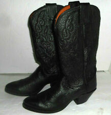 Olathe Embossed Leather Western Cowboy Boots USA Womens Size 6.5 C