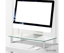 Monitor Computer Laptop Desktop Table Height Adjustable Glass Stand Riser