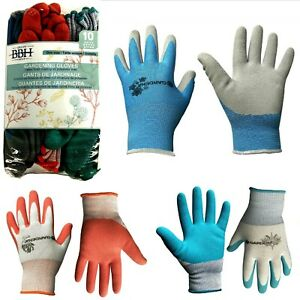 GARDENA Latex coating on polyester liner Gardening Gloves, Pk. of 10,4 or 3 pair