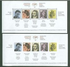 Block J64 Special sheet 1989 Germany perf/imperf Famous People Tuberculosis (2 p