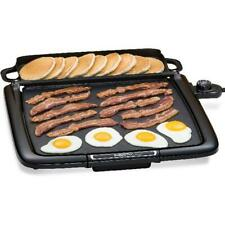 Electric Countertop Griddle Indoor BBQ Nonstick Cooking Smokeless Large Presto