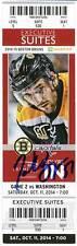 Patrice Bergeron Boston Bruins Signed Autographed 2014 Capital Suite Ticket - S1