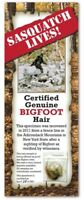 BIGFOOT SASQUATCH RARE HAIR SAMPLE - Tracking Hunter Hunting - LIMITED EDITION