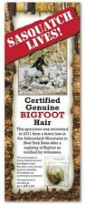 BIGFOOT HAIR SAMPLE Abominable Snowman Yeti Tracking Hunter Sasquatch Sign Card