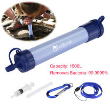 Purifier Straw Water Filter Personal Survival Kit Emergency Gear Outdoor Travel