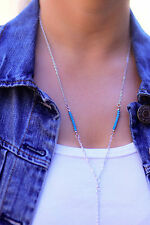 Silver Layer Necklace-Beads Feather Fashion Jewelry