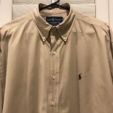 Polo Ralph Lauren Blake Mens XL Brown Button Down Long Sleeve Shirt