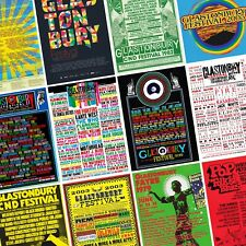 GLASTONBURY Festival Line Up Posters PHOTO Print POSTER Prints 1970-Present