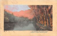 Cartolina - Postcard - Illustrata -  ruscello - Poesia - anni '10