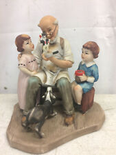 "Vintage Norman Rockwell figurine ""The Toy Maker"" ceramic statue replica 6�"