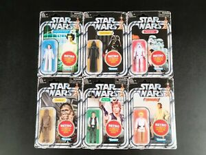 STAR WARS -WAVE 1 RETRO COLLECTION FIGURES NEW IN ORIGINAL SHIPPING BOX SEALED