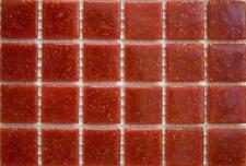 75 MAT Très rouge foncé vitrifiée verre mosaïque 20mm Tuiles A98