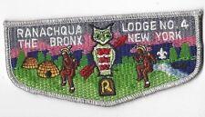 OA Lodge 4 Ranachqua S17b Flap SMY Bdr. Greater NY,The Bronx Council  (GNY163)