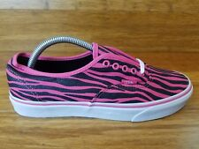 "Vans Men's Shoe's ""Authentic"" -- (Zebra Glitter) HtPnk/Blck , Size 9 F21"