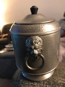 Pewter Tea Caddy (?) VGC