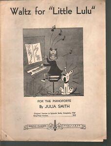 Waltz for Little Lulu 1938 Easy Piano Sheet Music