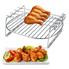 BBQ Rack Replacement Double Layer Skewers Baking Tray Air Fryer Tool Accessories