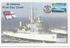 Naval Comm/FDC -  St Helena - HMS Intrepid - 2002 (387)