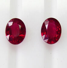 RUBIES PIDGEON BLOOD NATURAL RED 2.06ct!! MATCHING PAIR +CERTIFICATES INCLUDED