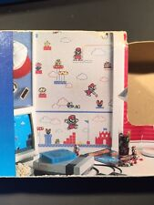 VTG Official Nintendo Super Mario 1989 Sculptured Vinyl 2 Wallcoverings + Border