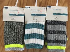 Old Navy Boys Crew Socks Lot Of Three.Size M (fits Shoes Sizes (13-3Y)