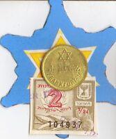 "1890-1914  *RARE  *Jewish Star of ""David"" on  *german BEER  TOKEN"