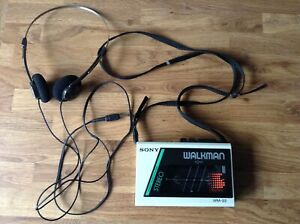 Vintage. Sony Walkman. WM - 22 . With Headphones .