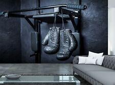 Old Boxing Gloves Hang Nail Giant Photo Wall Paper Mural Wallpaper 12/'1x8/'4 feet
