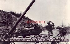 TROOP LADEN DUCK ON INVASION ROAD SO. FRANCE. JUNE 12, 1944