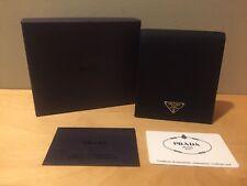 Auth Prada Black Tessuto Nero Nylon & Leather Wallet Black M728 Box $495 Mint