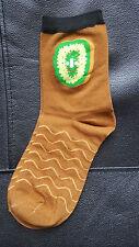 Smiling Kiwi Socks Fruit Face Striped Size 4-7 UK 37-42 EUR Fashion Cool Gift UK