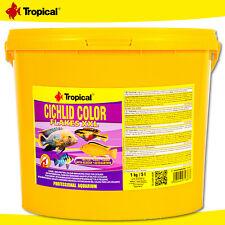 Tropical 5 L Cichlid Color Flakes XXL Colour Enhancer Fish Main Food