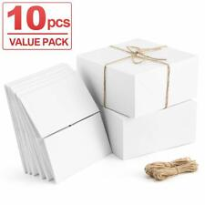 White Boxes Gift 10pcs 8x8x4 Inches, Paper With Lids For Gifts, Bridesmaid Box