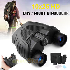 10X25 Zoom Day/Night Vision Outdoor HD Binoculars Hunting Telescope + Bag SET