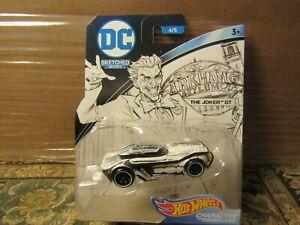 Pick 1: ©2017 DC Hot Wheels Joker, Batman, Superman Sketched Series Car NEW MOC