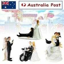 ROMANTIC WEDDING CAKE TOPPER FIGURE BRIDE & GROOM COUPLE BRIDAL DECORATION