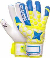 Derbystar Fußball Torwarthandschuhe Mamba II Herren blau gelb weiß