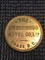 Token, The Underworld Hotel Co. Ltd. Chase B.C. 25 Cents Collectable Coin C25