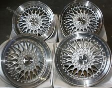 "Alloy Wheels 15"" Vintage For Bmw e21 e30 Chevrolet aveo corsa lanos 4x100 Silver"