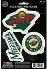 Minnesota Wild Team ProMark Die-Cut Decal Stickers 3Pack